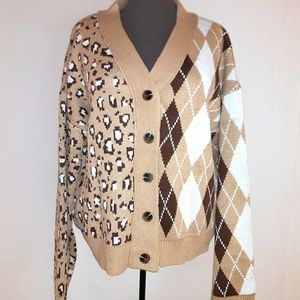 Dual Patterned Cardigan